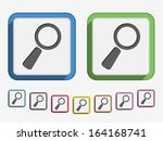 magnifying glass icon  flat...
