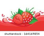 strawberry juice   Shutterstock .eps vector #164169854