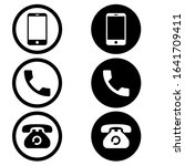 telephone icons vector set.... | Shutterstock .eps vector #1641709411
