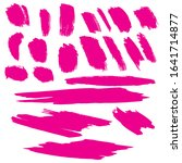 pink grunge brushes. colorful...   Shutterstock . vector #1641714877