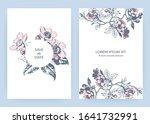 hand drawn sakura pink blossom...   Shutterstock .eps vector #1641732991