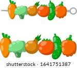 set of vegetables on skewer....