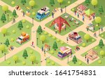 summer park at street food... | Shutterstock .eps vector #1641754831