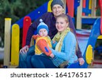 happy family relaxing in the... | Shutterstock . vector #164176517