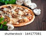 Vegetarian Pizza With Mushroom...