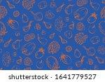 fresh vegetables sketch... | Shutterstock .eps vector #1641779527