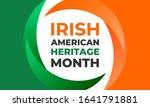 irish american heritage month.... | Shutterstock .eps vector #1641791881