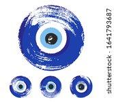 hand drawn turkish eye. symbol... | Shutterstock .eps vector #1641793687