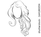 abstract drawing of long hair | Shutterstock . vector #164180354