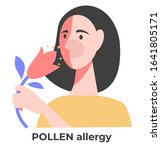allergy symptom and cause  sick ... | Shutterstock .eps vector #1641805171