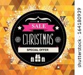 christmas poster sale... | Shutterstock .eps vector #164180939