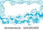 winter rural landscape and frame | Shutterstock .eps vector #164181404