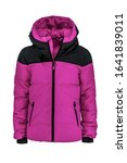 Women's Pink With Black Hooded...