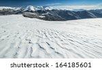 winter alpine scenery with snow ...