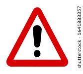 danger caution traffic sign... | Shutterstock .eps vector #1641883357