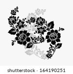 beautiful rose flowers on the... | Shutterstock .eps vector #164190251