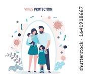 happy parents with children is... | Shutterstock .eps vector #1641918667