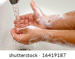 washing hands - stock photo