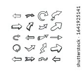 arrows set. drawn style. vector ... | Shutterstock .eps vector #1641925141
