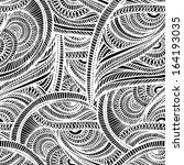 seamless textile monochrome... | Shutterstock .eps vector #164193035