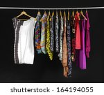 female variety of clothes... | Shutterstock . vector #164194055
