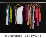 variety of casual fashion... | Shutterstock . vector #164194145