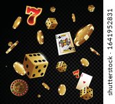 gold casino poker chips and... | Shutterstock .eps vector #1641952831