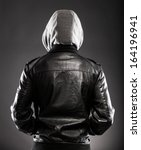 Young Man In Leather Jacket An...