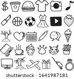 vector icon pack travel  vector ... | Shutterstock .eps vector #1641987181