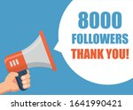 8000 followers thank you   male ... | Shutterstock .eps vector #1641990421
