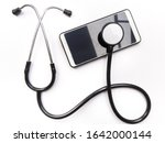 Stethoscope And Smart Phone...