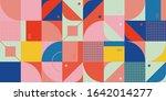 neo modernism artwork pattern... | Shutterstock .eps vector #1642014277