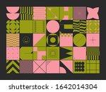 brutalism art inspired abstract ... | Shutterstock .eps vector #1642014304
