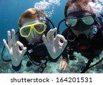 Scuba Divers Showing Ok Signal...