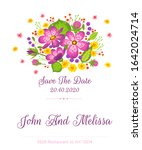 save the date flat vector... | Shutterstock .eps vector #1642024714