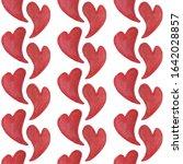 watercolor hearts seamless...   Shutterstock . vector #1642028857