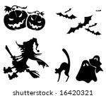 halloween icons | Shutterstock .eps vector #16420321