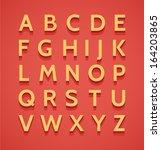vintage vector 3d alphabet | Shutterstock .eps vector #164203865