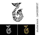 maori symbol hei matau fish...   Shutterstock .eps vector #1642038937
