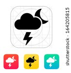lightning at night weather icon....