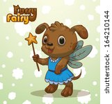furry fairy  puppy  vector | Shutterstock .eps vector #164210144