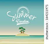 summer design over landscape  ... | Shutterstock .eps vector #164211971