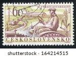czechoslovakia   circa 1960 ... | Shutterstock . vector #164214515