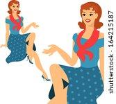 Beautiful Pin Up Girl 1950s...