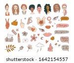 women's international day girl... | Shutterstock .eps vector #1642154557