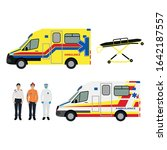 hong kong ambulance car and... | Shutterstock .eps vector #1642187557