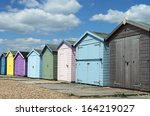 Beach Huts At Ferring  Sussex ...