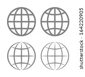 earth globe emblem set. vector | Shutterstock .eps vector #164220905