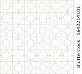 outline seamless geometric... | Shutterstock .eps vector #1642214101