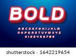 3d bold alphabet. pop art font  ... | Shutterstock .eps vector #1642219654